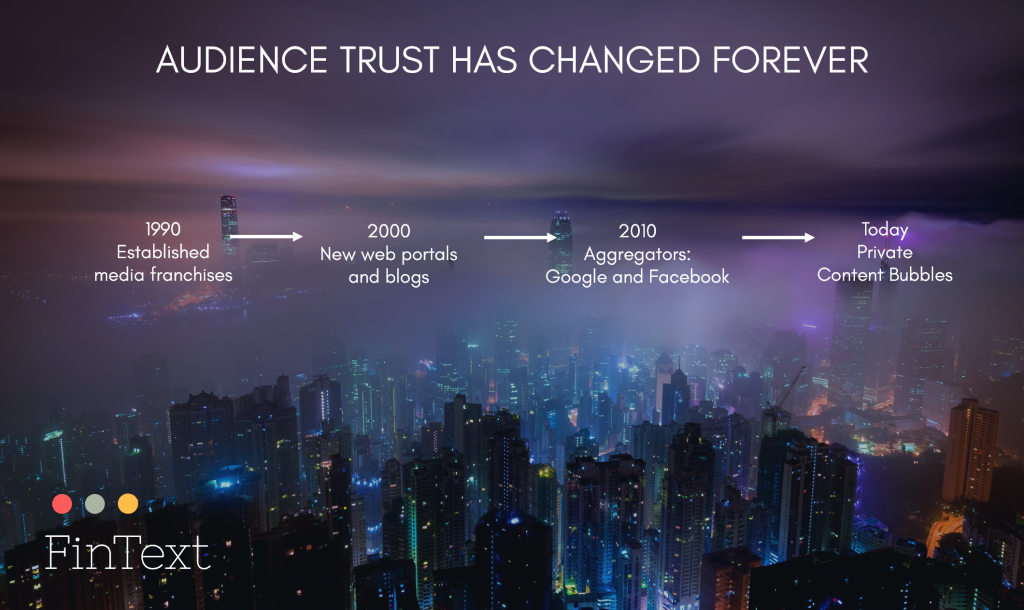 How audience trust has changed as the Internet grew