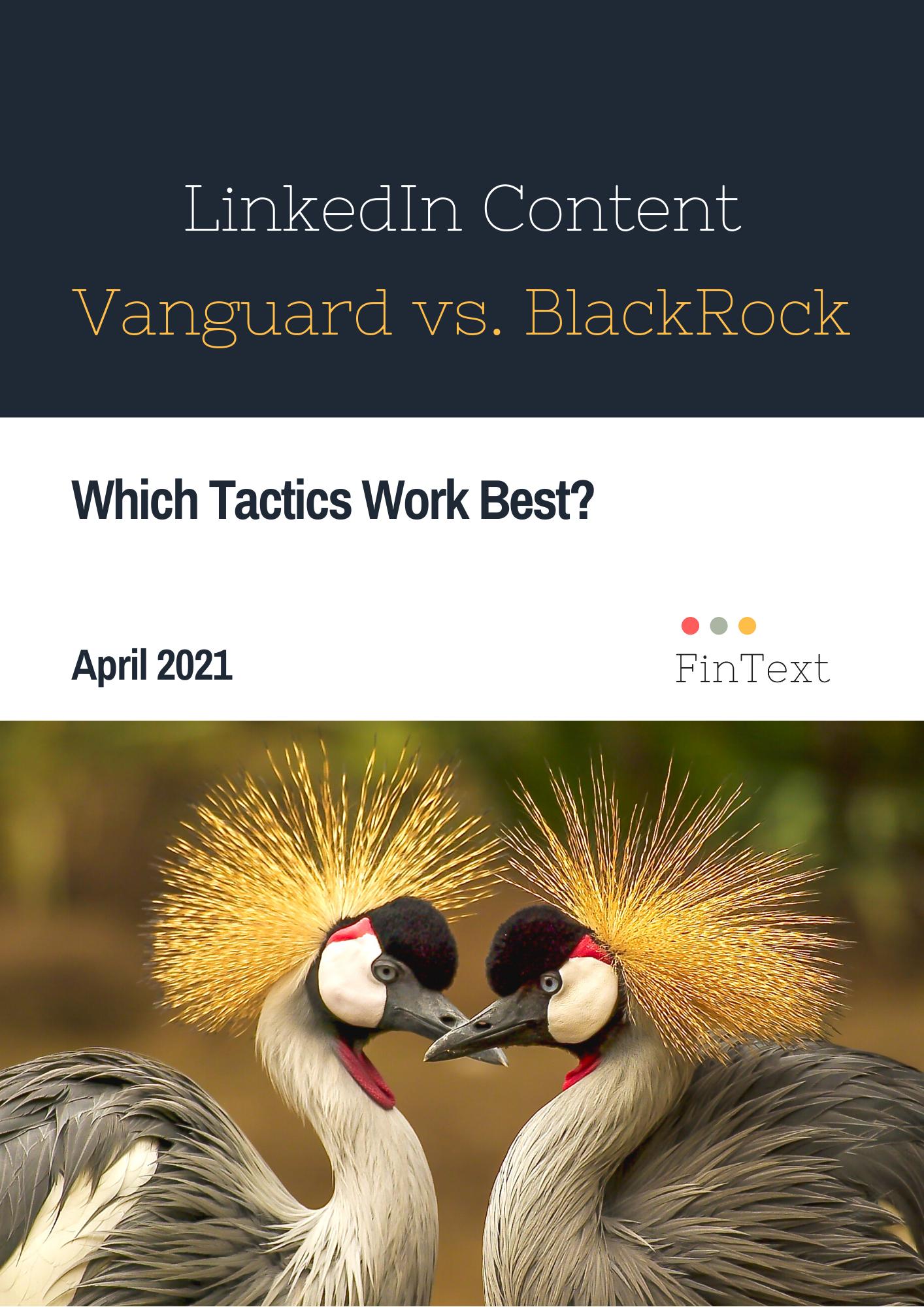 Comparing LinkedIn tactics for Vanguard and BlackRock